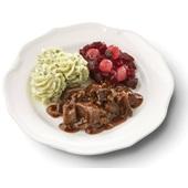 Culivers (5) hachee met rode bietjes met zilveruitjes en aardappelpuree met tuinkruiden voorkant