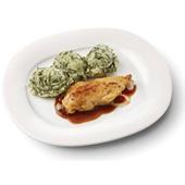 Culivers (32) kipfilet in uienjus met andijviestamppot voorkant