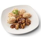 Culivers (55) gegrilde vegastukjes in uiensaus en hutspot voorkant