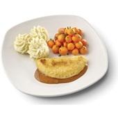 Culivers (65) omelet champignon in Provencaalse saus met Parijse worteltjes en aardappelpuree voorkant