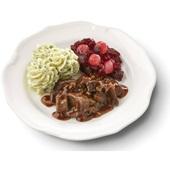 Culivers (75) hachee met rode bietjes met zilveruitjes en aardappelpuree met tuinkruiden  voorkant