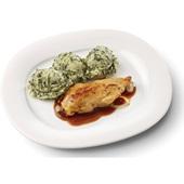 Culivers (81) kipfilet in uienjus met andijviestamppot voorkant