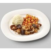 Culivers (84) kip op Brabantse wijze met Parijse worteltjes en aardappelpuree voorkant