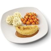 Culivers (102) omelet champignon in Provencaalse saus met Parijse worteltjes en aardappelpuree voorkant