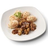 Culivers (105) gegrilde vegastukjes in uiensaus en hutspot voorkant
