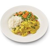 Carezzo kipragoutschotel met rijst, doperwten en worteltjes voorkant