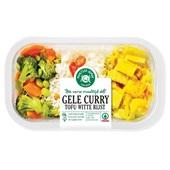 Spar gele curry tofu voorkant