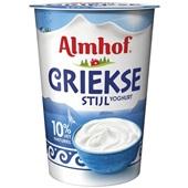Almhof yoghurt Griekse stijl voorkant