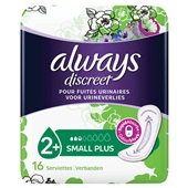 Always Discreet Incontinentie Verband Small Plus voorkant
