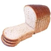 Ambachtelijke Bakker bruin brood half gesneden voorkant