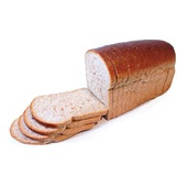 Ambachtelijke Bakker bruin brood heel gesneden voorkant