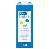 Bio+ volle melk biologisch voorkant