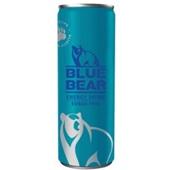 Blue Bear energy drink sugar free voorkant