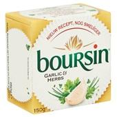 Boursin verse roomkaas knoflook & fijne kruiden achterkant