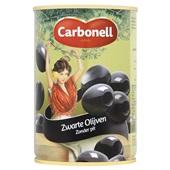 Carbonell Zwarte Olijven Zonder pit voorkant
