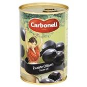 Carbonell Zwarte Olijven Zonder pit achterkant