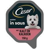 Cesar Cuisine Hondenvoer Met Kalfsvlees En Gevogelte voorkant