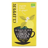 Clipper Thee Organic Lemon & Ginger Infusion Tea voorkant