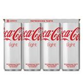 Coca Cola Light blik 8 x 250 ml voorkant