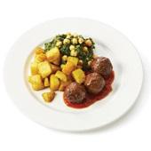 Culivers (22) Spaanse gehaktballetjes, spinazie met kikkererwten en knoflook-aardappeltjes   voorkant
