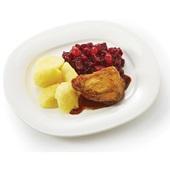 Culivers (26) Kipkarbonade met kippenjus, rode bietjes met zilveruitjes en gekookte aardappelen  voorkant