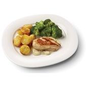 Culivers (27) kipfilet in champignonsaus, broccoli en rösti rondjes   voorkant