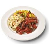 Culivers (38) babi pangang, pikante groenten, ananas en bami goreng voorkant
