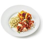 Culivers (71) Kabeljauw in paprika-tomatensaus met groentemix en volkorenpasta   voorkant