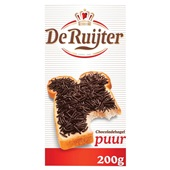 De Ruijter chocoladehagel puur voorkant