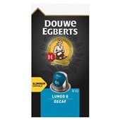 Douwe Egberts koffiecapsules lungo decaf voorkant