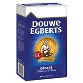 Douwe Egberts snelfilterkoffie decafé  achterkant