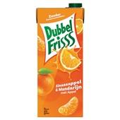 DubbelFrisss vruchtensap sinaasappel mandarijn voorkant