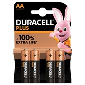 Duracell batterijen Alkaline Plus AA voorkant