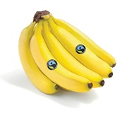 Fair Trade banaan 1 stuk achterkant