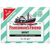 Fisherman's Friend mint trio  suikervrij voorkant