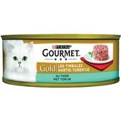 Gourmet gold hartig torentje kattenvoer met tonijn voorkant