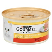 Gourmet Gold Kattenvoer Mousse Met Rundvlees achterkant