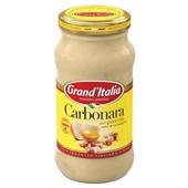 Grand'Italia Pastasaus Carbonara achterkant