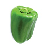 groene paprika voorkant