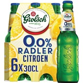 Grolsch Radler Lemon 0.0% 6X30CL voorkant