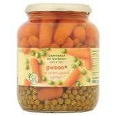 Gwoon doperwten en wortelen extra fijn voorkant