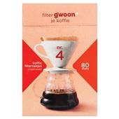 Gwoon koffiefilterzakjes nr. 4  voorkant