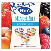 Hero jam cupjes minder zoet 10-pack voorkant