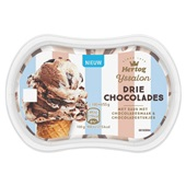 Hertog ijssalon drie chocolades voorkant
