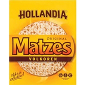 Hollandia Matzes matzes volkoren voorkant