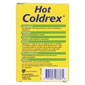 Hot Coldrex Paracetamol Coldrex achterkant