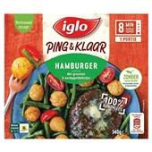 Iglo ping & klaar hamburger met groenten voorkant