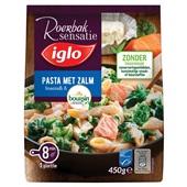 Iglo roerbaksensatie  maaltijd pasta met zalm & boursin voorkant