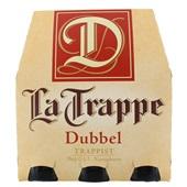 La Trappe trappist dubbel fles 6x30 cl voorkant