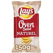 Lay's oven baked chips naturel voorkant